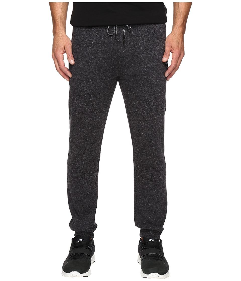 Rip Curl - Surf Check Fleece Pants (Black) Men's Casual Pants