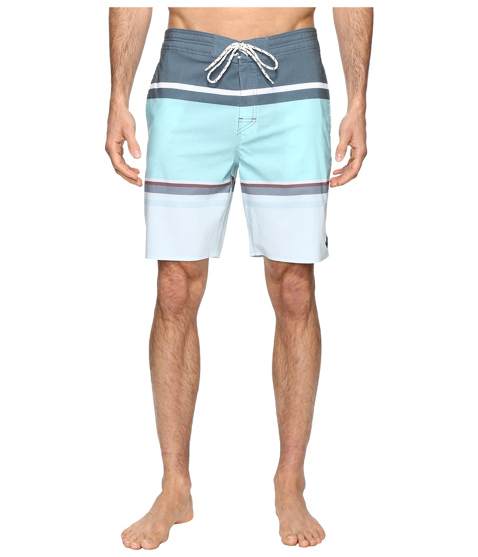 Rip Curl - Rapture Stripe Lay Day Boardshorts (Teal) Men's Swimwear