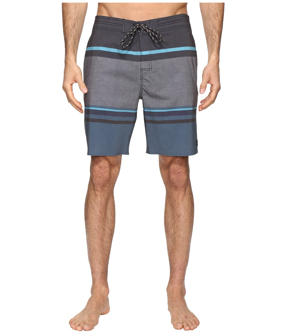 Rip Curl - Rapture Stripe Lay Day Boardshorts (Black) Men's Swimwear