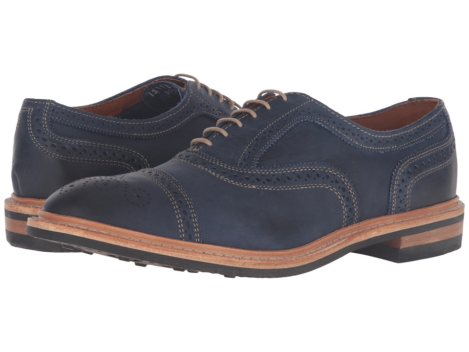 Allen-Edmonds - Strandmok (Navy Leather) Men's Lace Up Cap Toe Shoes