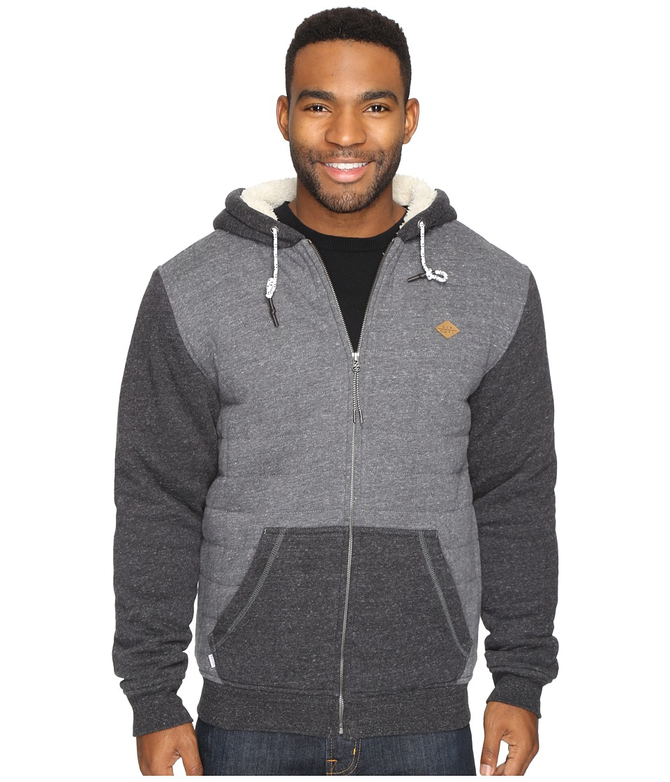 Rip Curl - Surf Check Sherpa Fleece (Charcoal) Men's Fleece