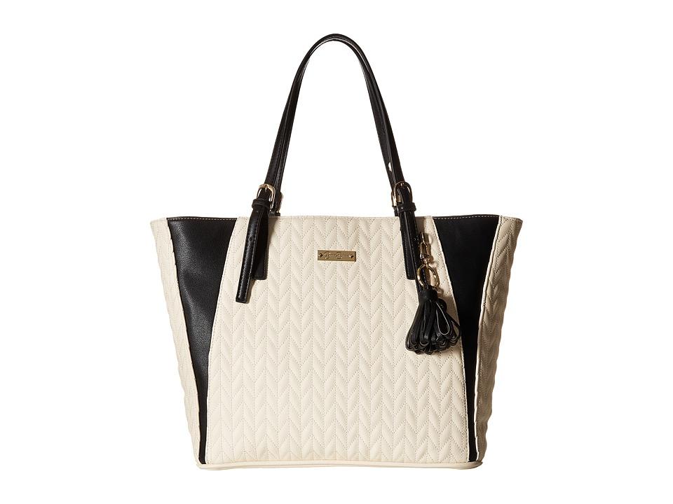 Jessica Simpson - Cynthia Tote (Cream/Black) Tote Handbags