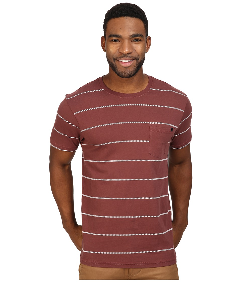 Rip Curl - Newps Custom Tee (Deep Red) Men's T Shirt