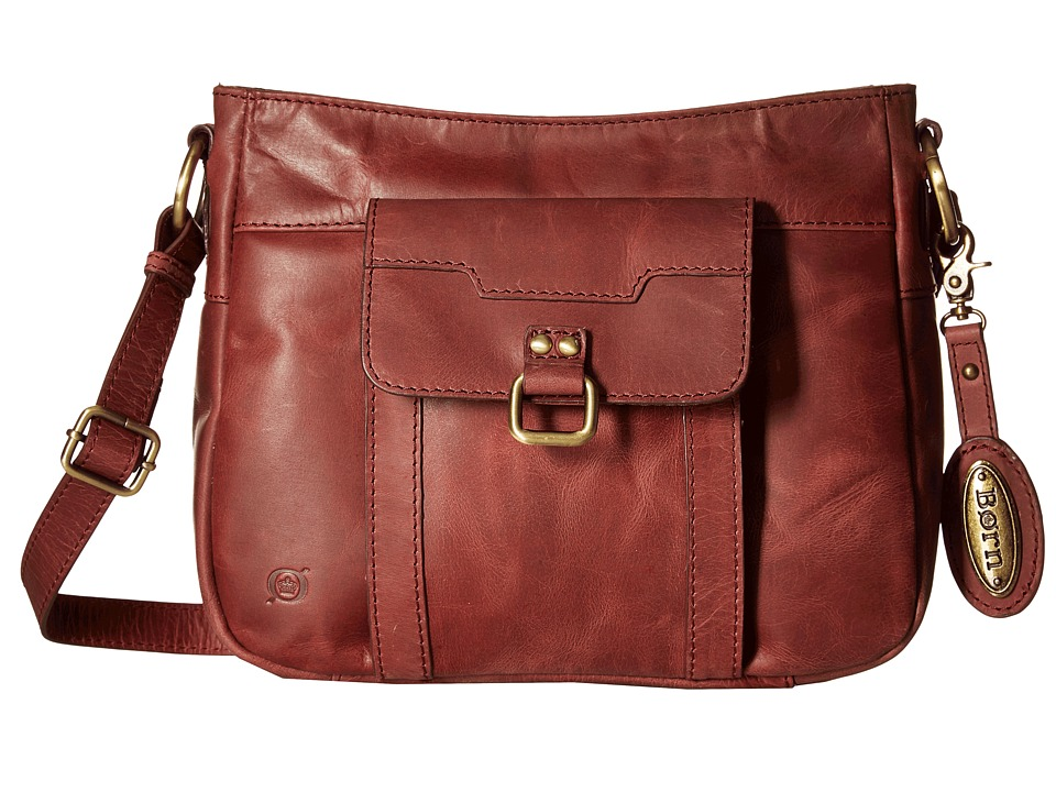 Born - Eudora Crossbody w/ Organizer (Dark Cherry) Cross Body Handbags