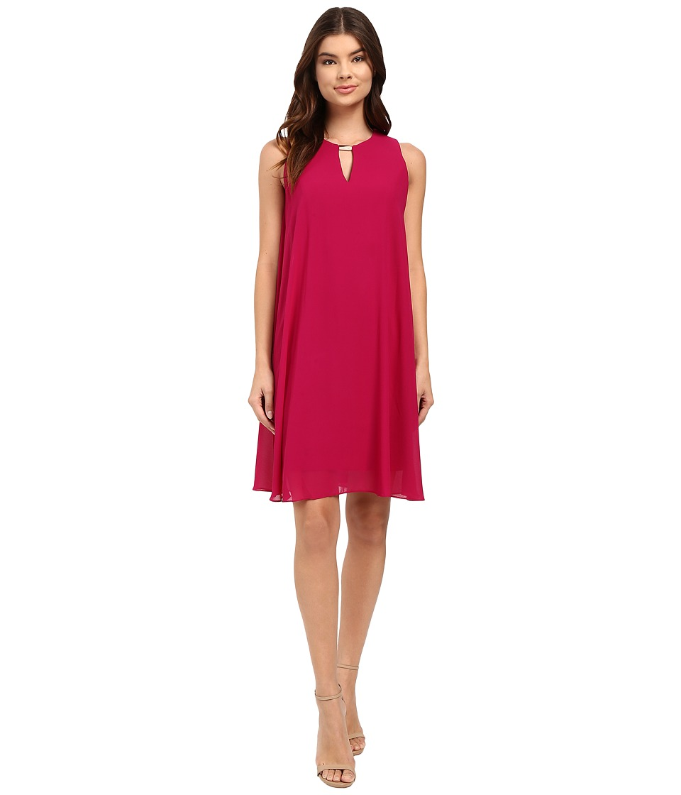 Vince Camuto - Sleeveless Float Dress with Keyhole (Berry) Women's Dress