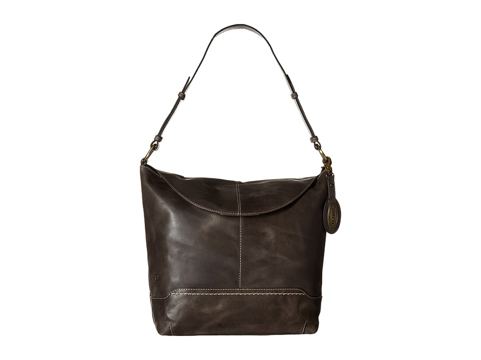 Born - Echo Flap Hobo (Charcoal) Hobo Handbags