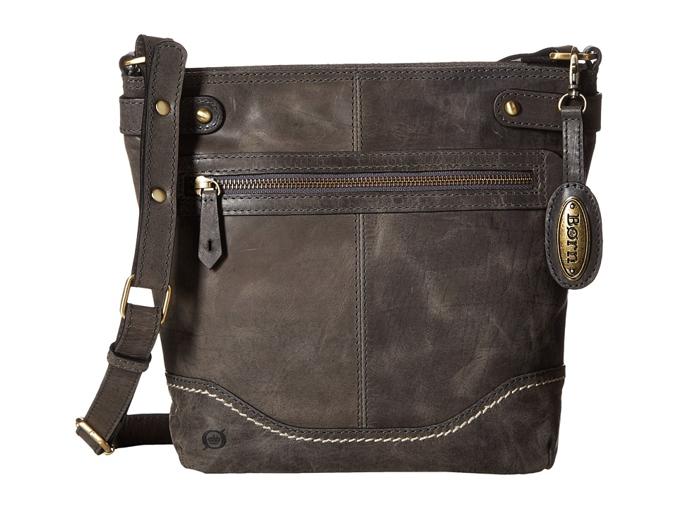 Born - Izabel Bucket Crossbody (Charcoal) Cross Body Handbags