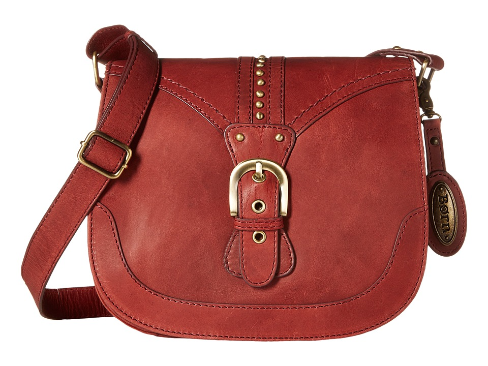 Born - Canolo Saddle Bag (Dark Cherry) Handbags