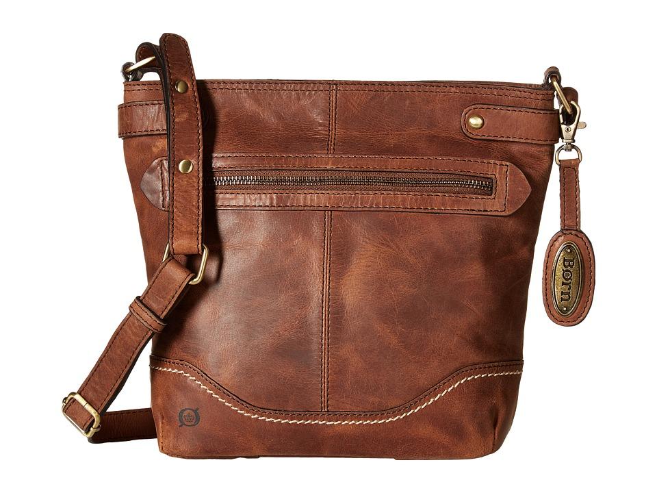 Born - Izabel Bucket Crossbody (Chocolate) Cross Body Handbags