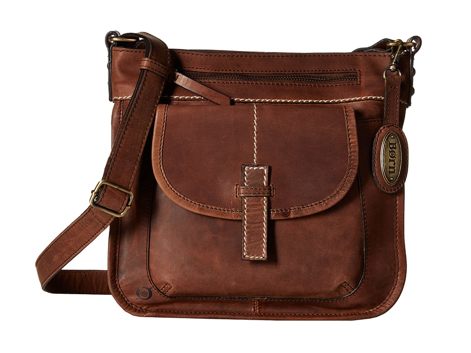 Born - Helena Flap Pocket Crossbody (Chocolate) Cross Body Handbags