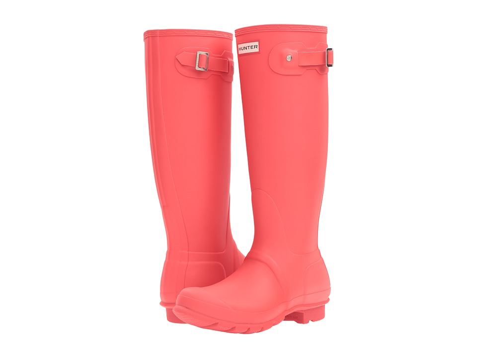 Hunter - Original Tall (Bright Coral) Women's Rain Boots