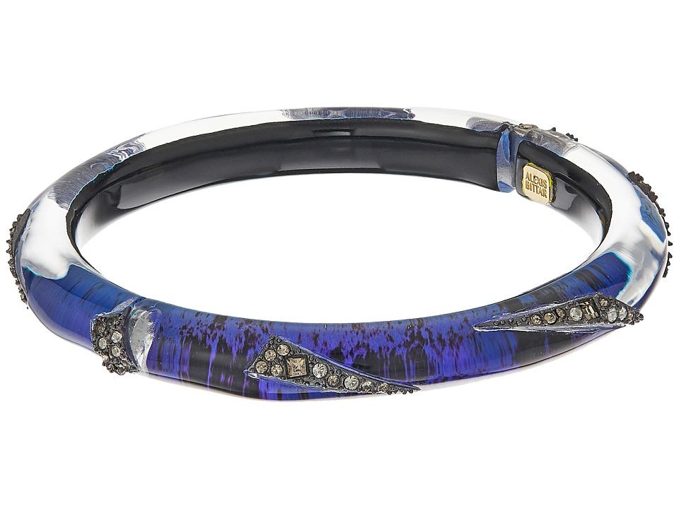 Alexis Bittar - Crystal Encrusted Origami Inlay Hinge Bracelet (Laguna Blue) Bracelet
