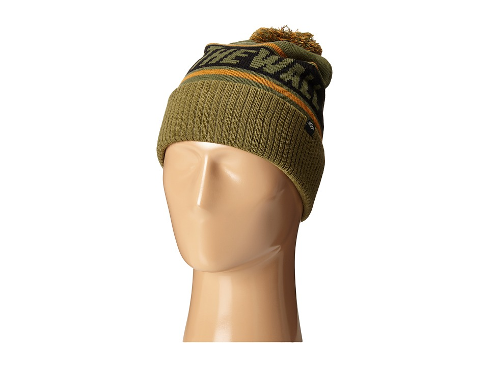 Vans - Off the Wall Pom Beanie (Grape Leaf/Burnt Olive) Beanies