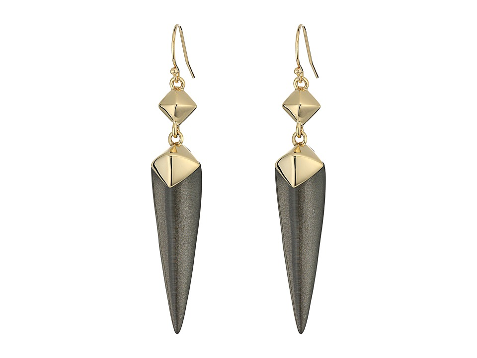 Alexis Bittar - Double Pyramid Drop Earrings (Ash) Earring