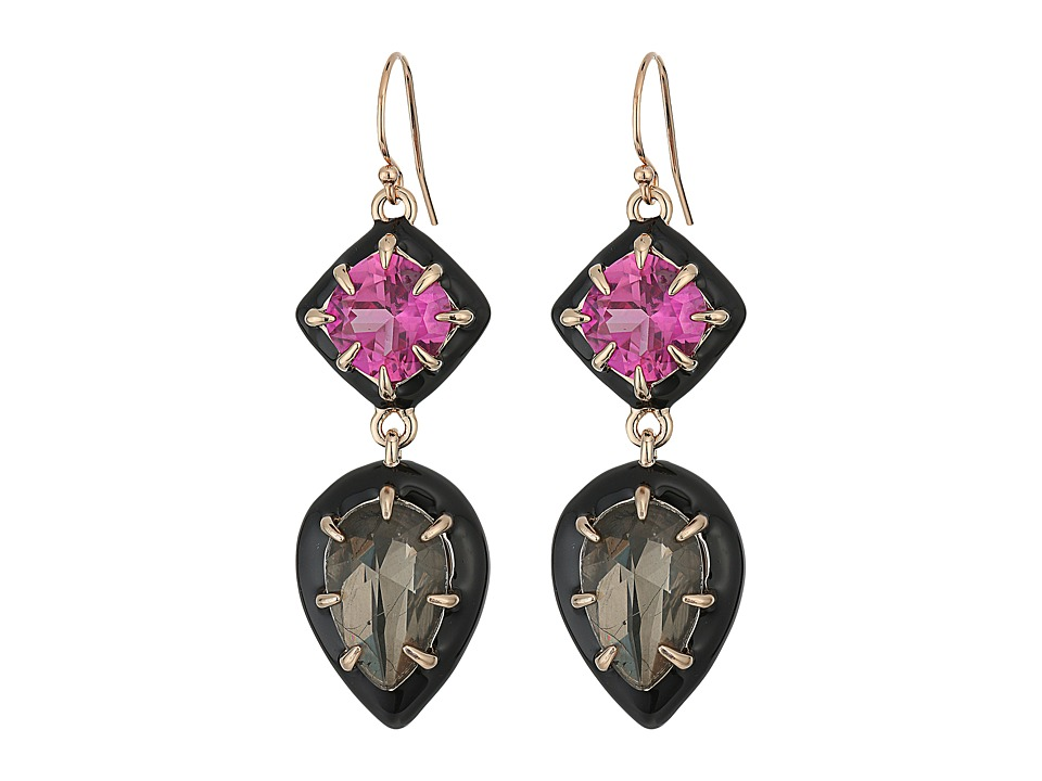 Alexis Bittar - Enamel Framed Custom Gemstone Drop Earrings (Gemstone) Earring