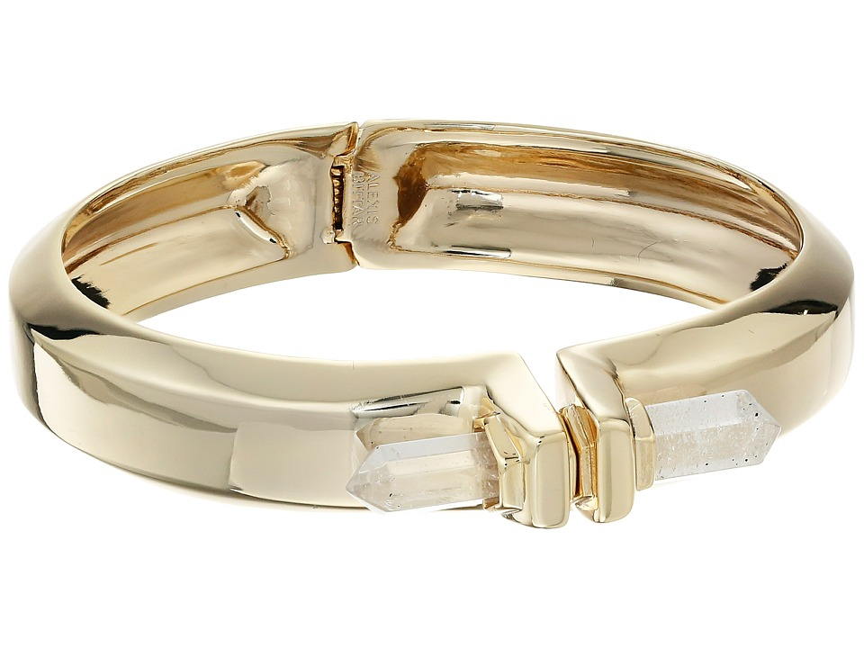 Alexis Bittar - Small Pierece Rock Crystal Hinge Bracelet (Gold) Bracelet