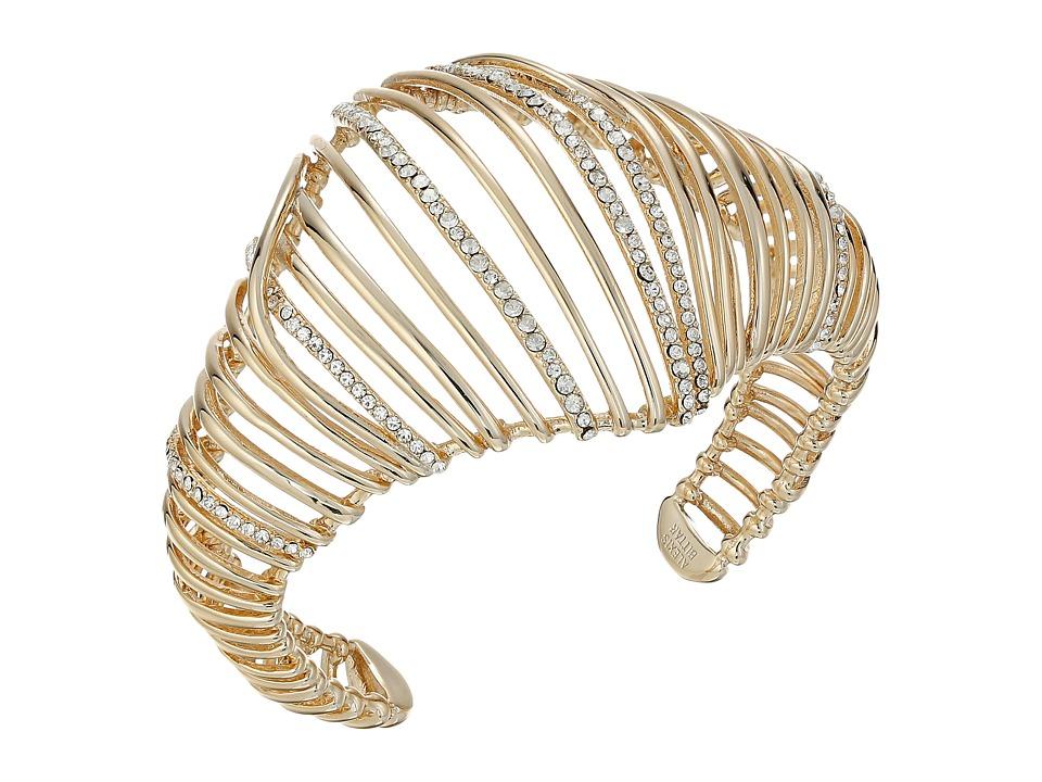 Alexis Bittar - Orbital Cuff w/ Crystal Accents Bracelet (Gold) Bracelet