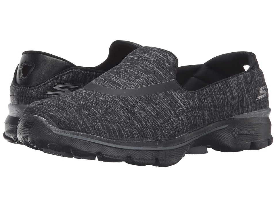 SKECHERS Performance - Go Walk 3 - Force (Black) Women's Flat Shoes