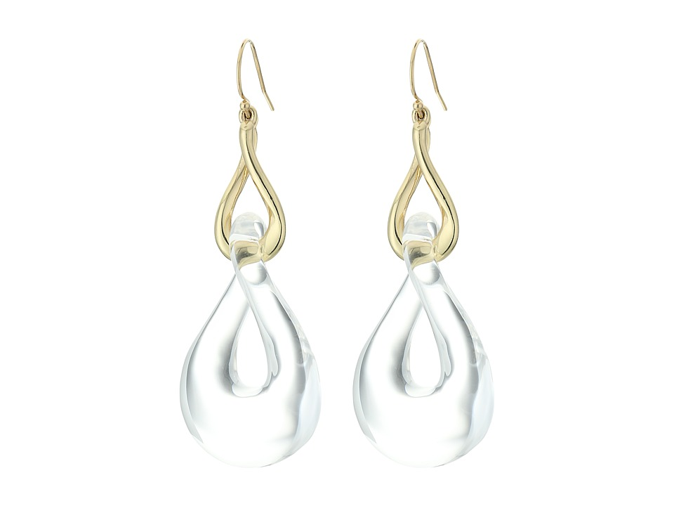 Alexis Bittar - Infinity Link Wire Earrings (Clear) Earring