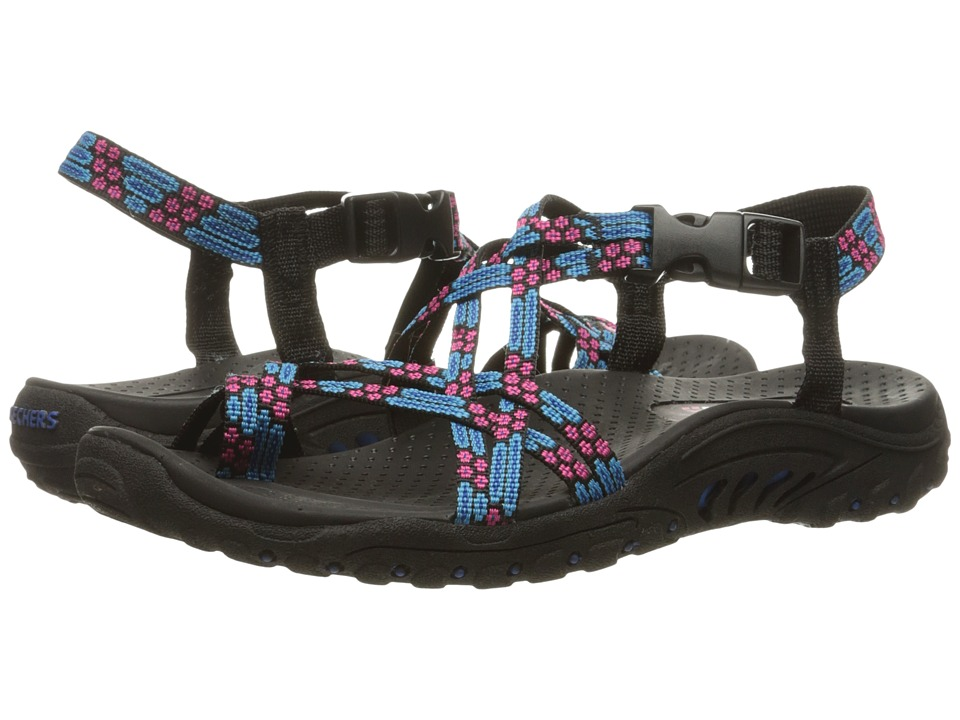 SKECHERS - Reggae - Loopy (Blue/Pink) Women's Sandals