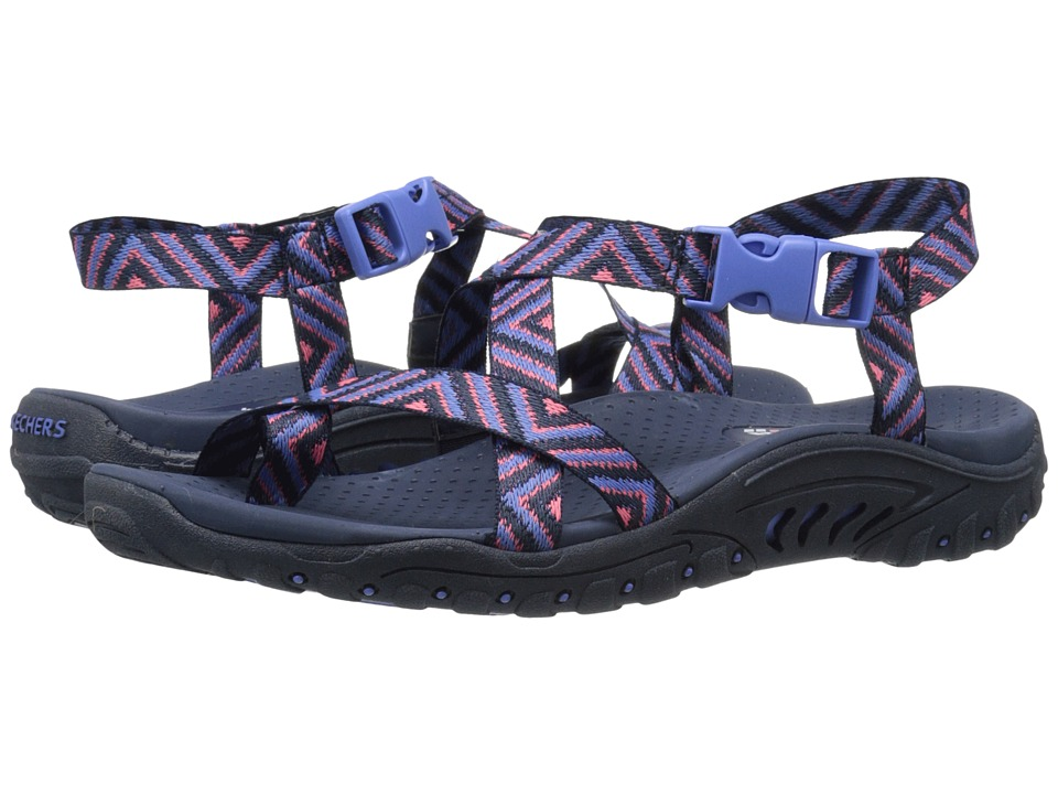 SKECHERS - Reggae - Haystack (Navy/Pink) Women's Sandals