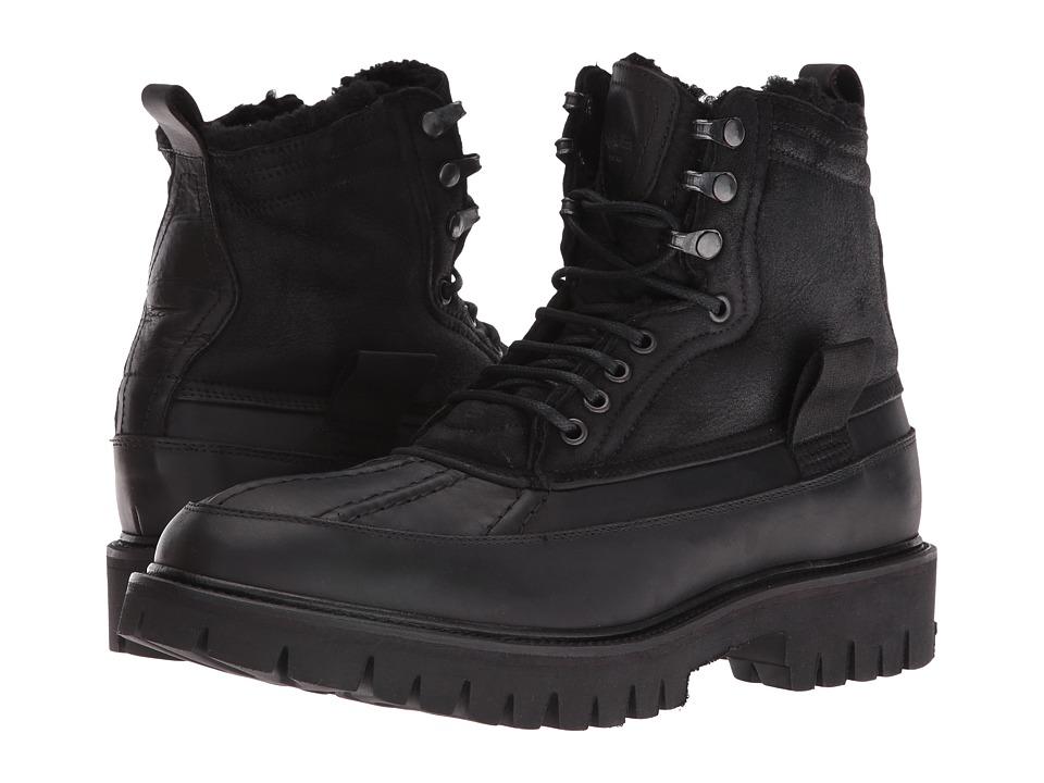 rag & bone - Spencer Duck Boot (Black Shearling) Men's Boots