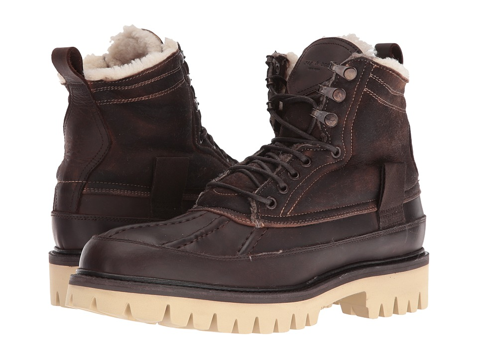 rag & bone - Spencer Duck Boot (Brown Shearling) Men's Boots