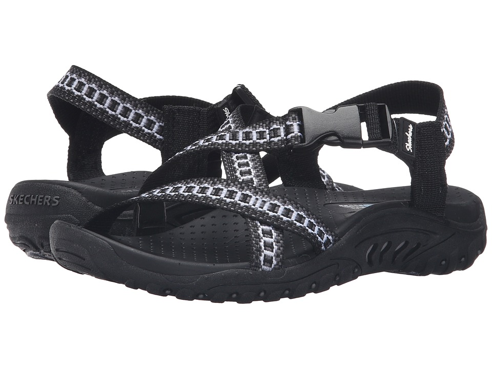 SKECHERS - Reggae - Kooky (Black/Gray) Women's Sandals