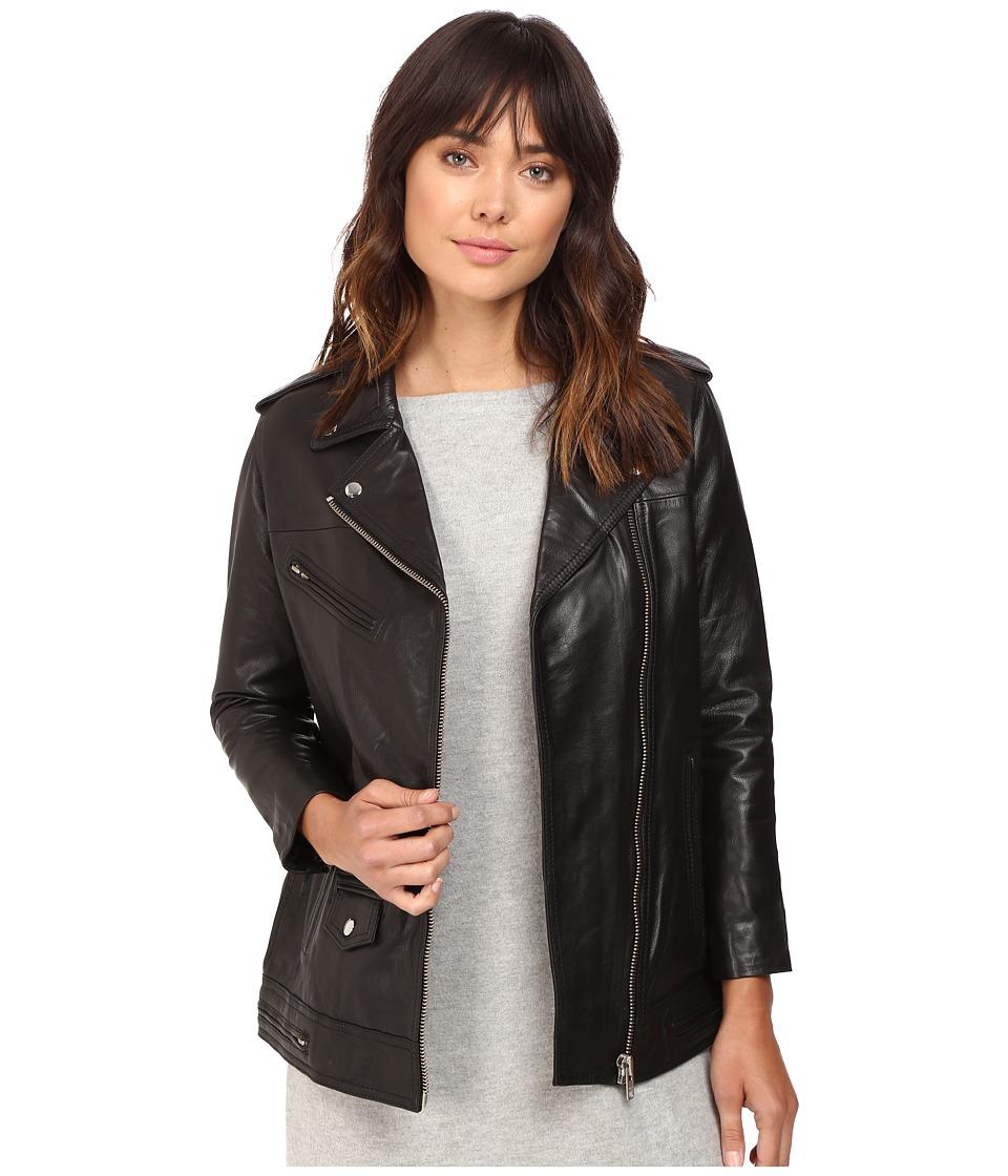 OBEY Diablo Leather Jacket (Black) Women's Coat