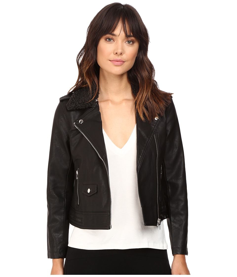 Obey - Billie Vegan Leather Jacket (Black) Women's Coat