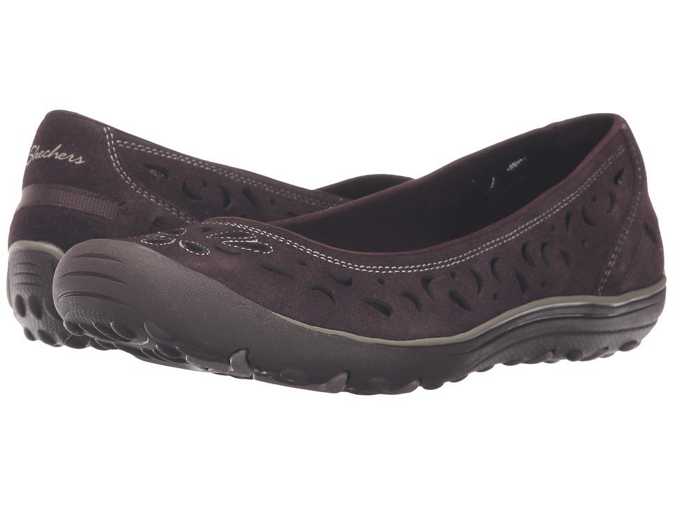 SKECHERS - Earth Fest (Chocolate) Women's Slip on Shoes