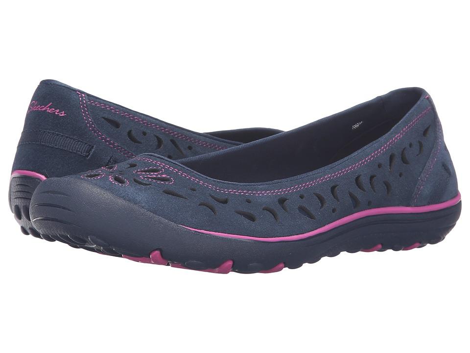 SKECHERS - Earth Fest (Navy) Women's Slip on Shoes