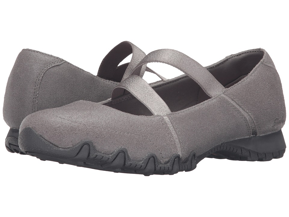 SKECHERS - Modern Comfort Bikers Fiesta (Gray) Women's Maryjane Shoes
