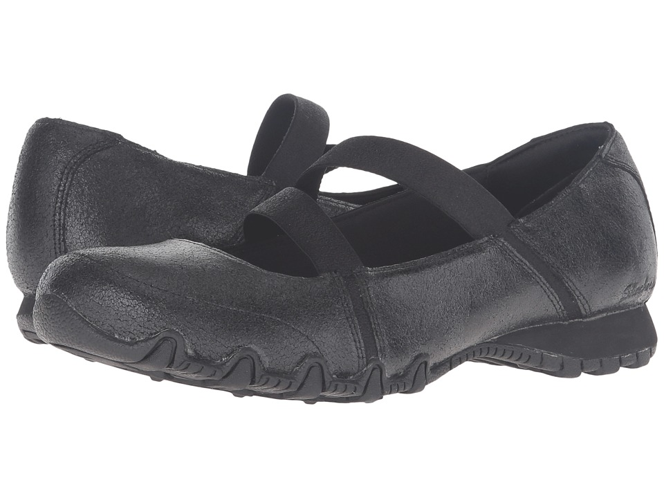 SKECHERS - Modern Comfort Bikers Fiesta (Black) Women's Maryjane Shoes