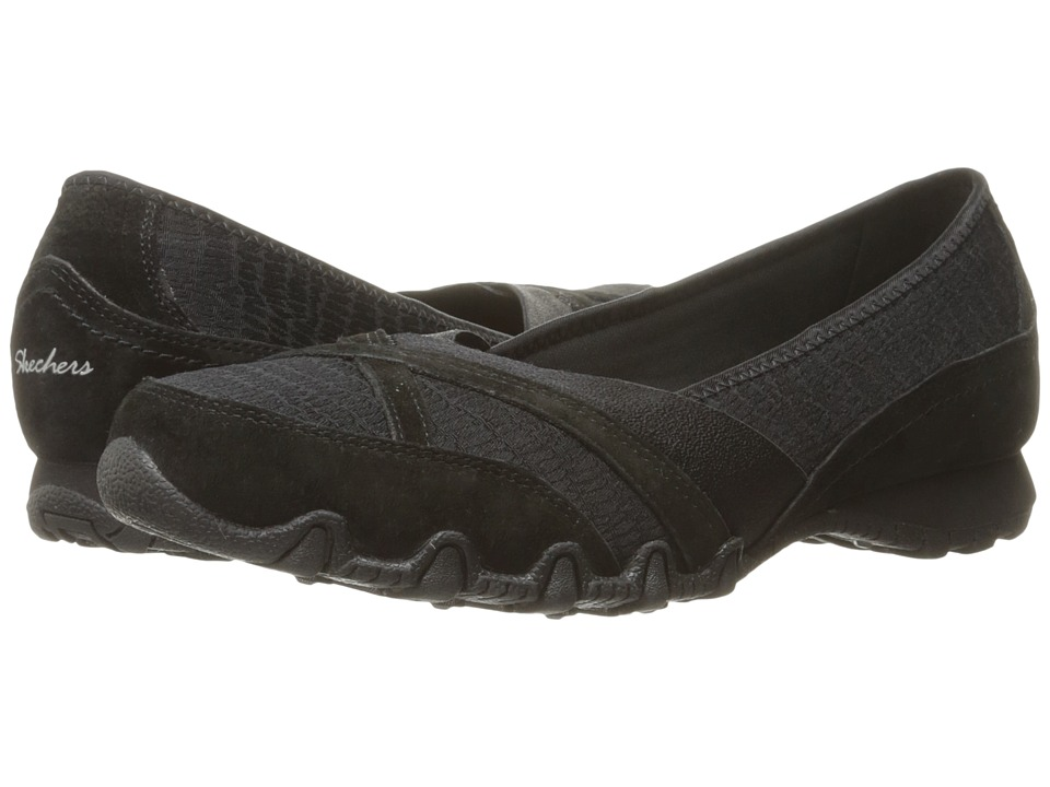 SKECHERS - Modern Comfort Bikers Satine (Black) Women's Slip on Shoes