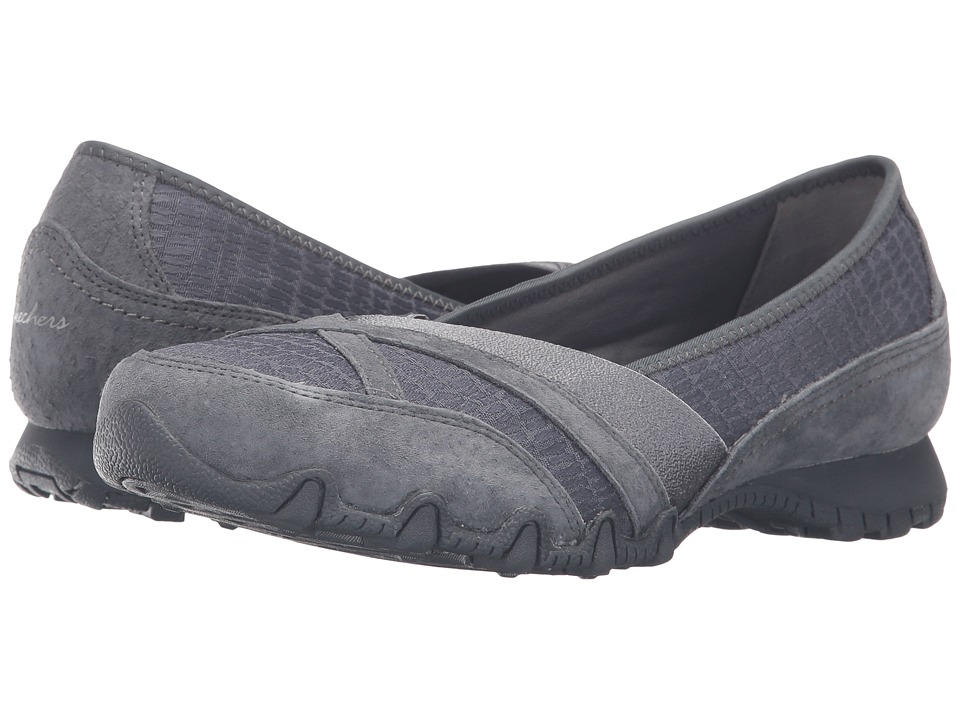 SKECHERS - Modern Comfort Bikers Satine (Charcoal) Women's Slip on Shoes