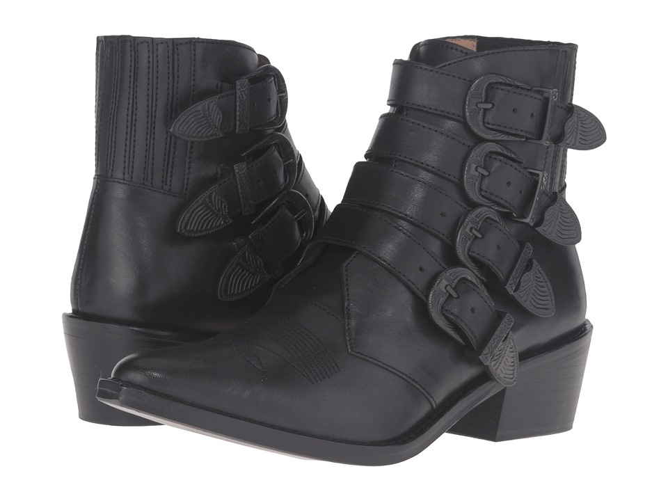 Toga Pulla - AJ006 (Black Leather/Black Buckle/Limited Edition) Women's Shoes