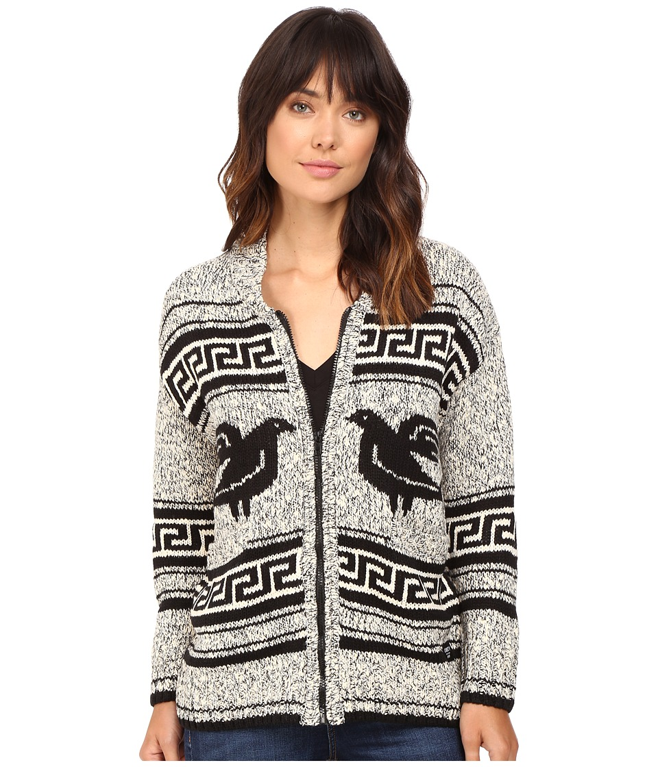 Obey - Eirene Sweater Jacket (Black Multi) Women's Coat