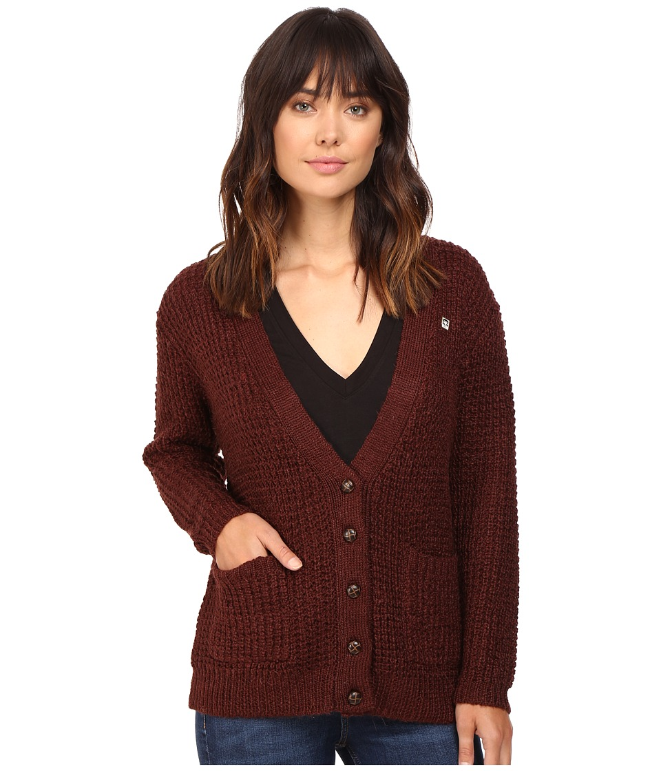 Obey - Barnette Cardigan (Raisin) Women's Sweater