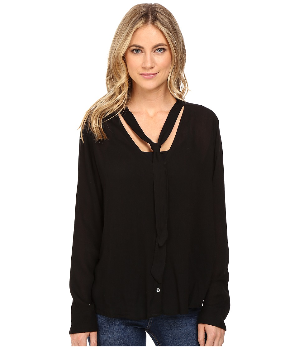 Obey - Tompkins Button Down (Black) Women's Clothing