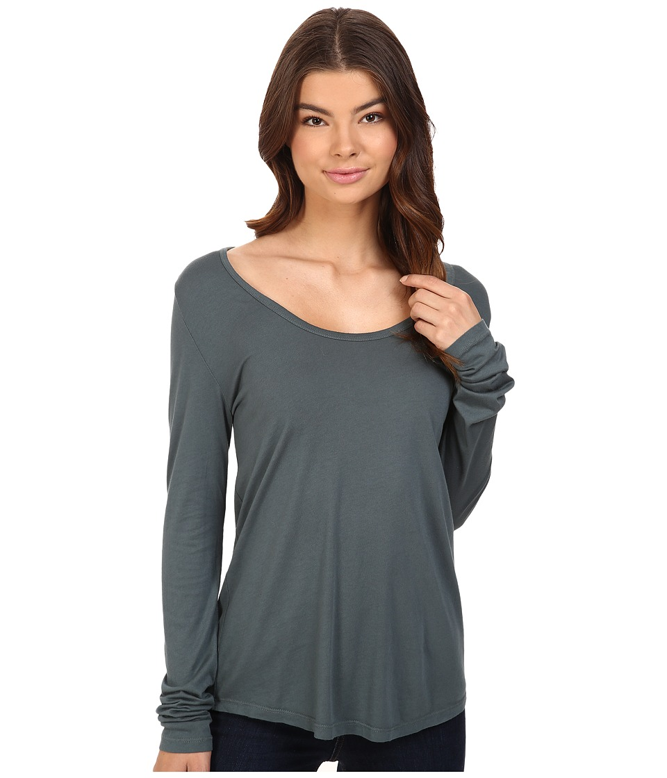 Obey - Haley Long Sleeve (Dusty Spruce) Women's Clothing