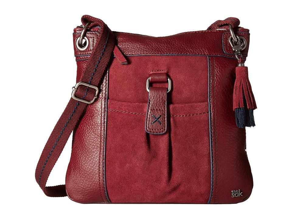 The Sak - Kendra Leather Crossbody (Cabernet Block) Cross Body Handbags