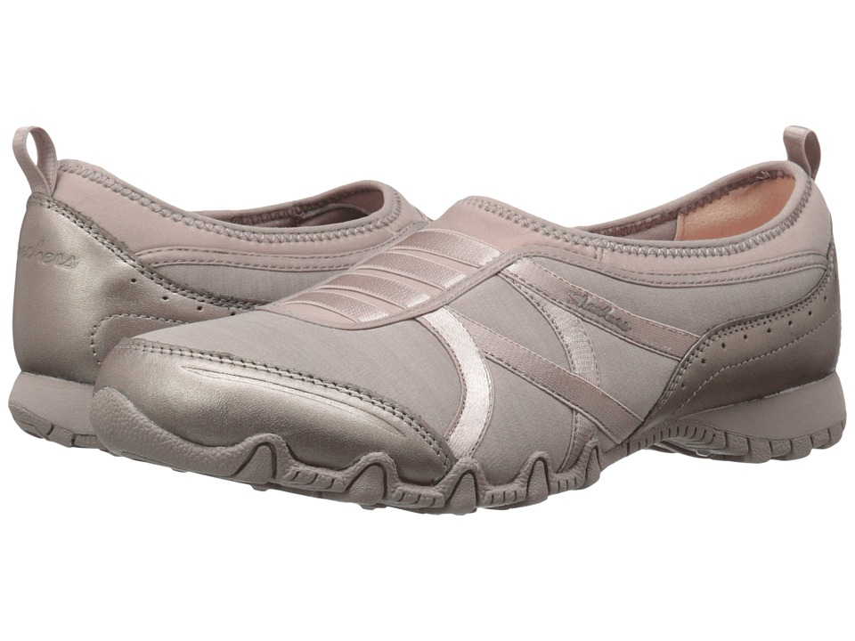 SKECHERS - Modern Comfort Bikers Satin Dream (Taupe) Women's Shoes