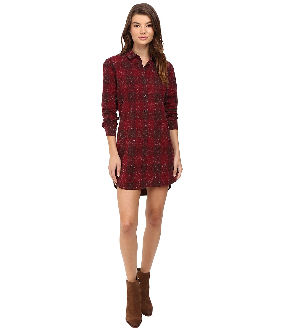 Obey - Bex Shirtdress (Burgundy Multi) Women's Dress