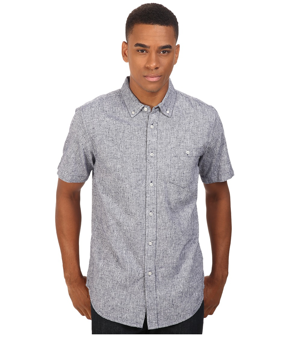 Obey - Holden Woven Short Sleeve (Navy) Men's Clothing