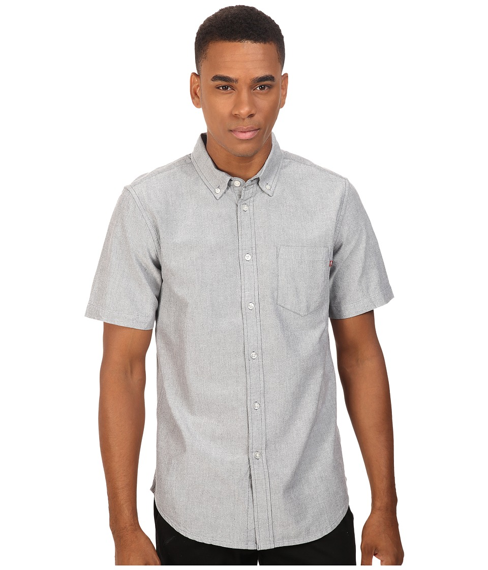 Obey - Dissent Trait Woven Short Sleeve (Black) Men's Clothing