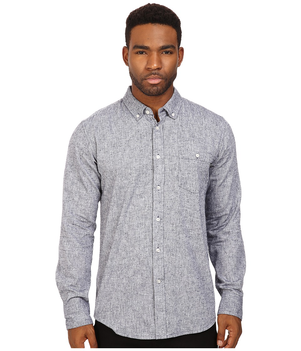 Obey - Holden Woven Long Sleeve (Navy) Men's Clothing