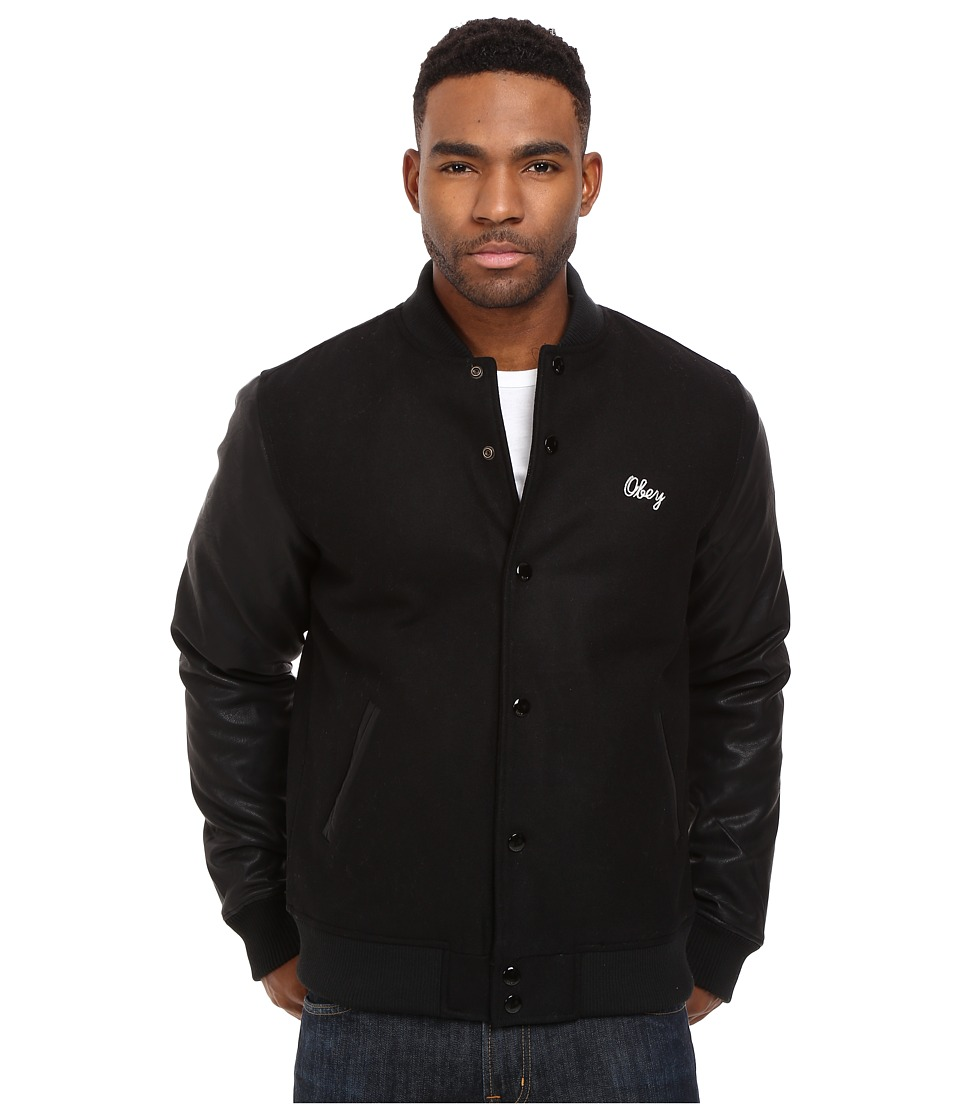 Obey - Soto Collegiate Jacket (Black) Men's Coat