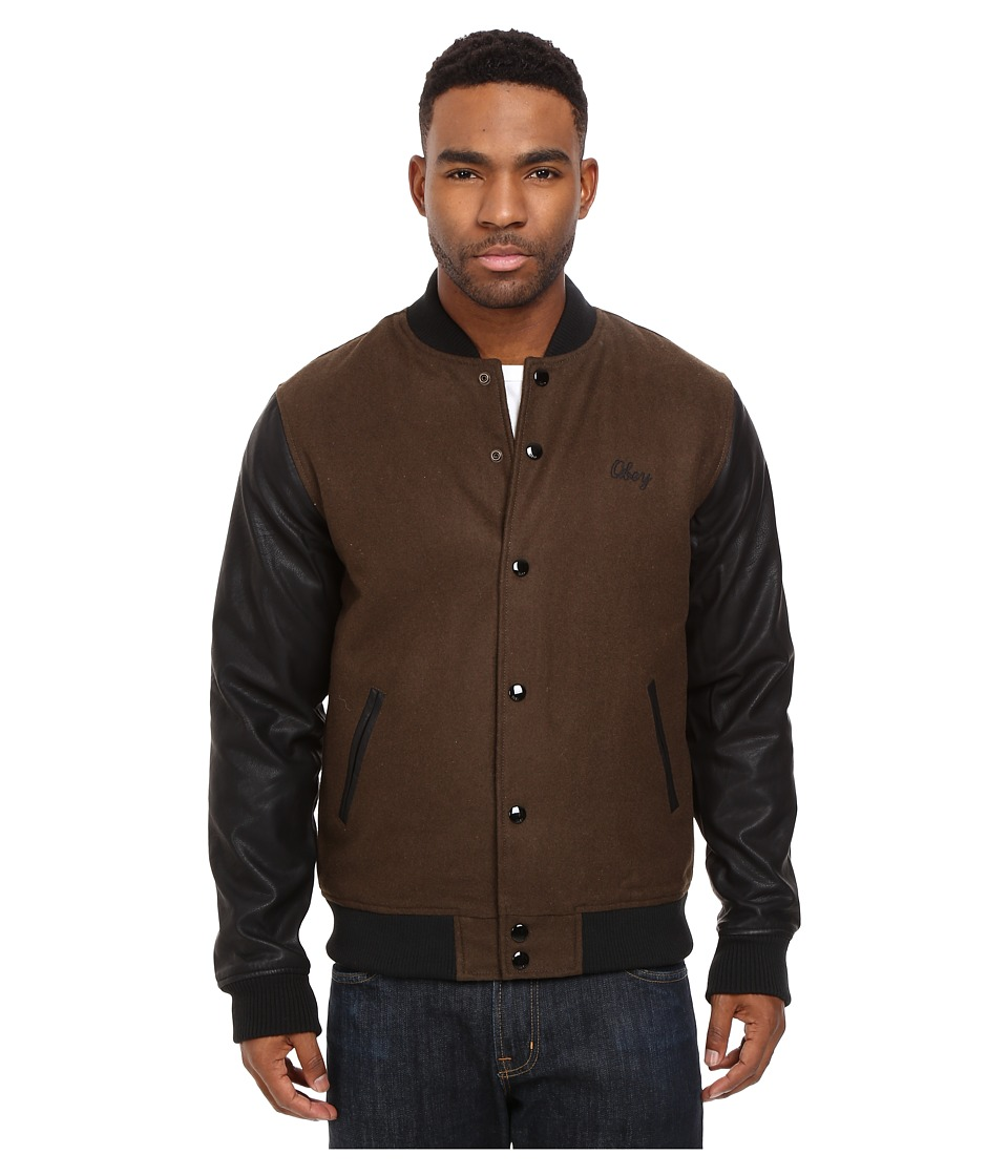 Obey - Soto Collegiate Jacket (Dark Army) Men's Coat