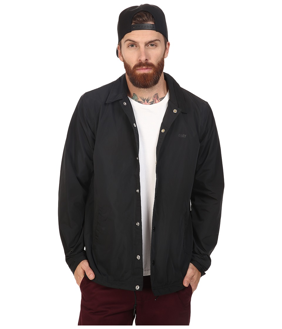 Obey - Baker Graphic Jacket (Black) Men's Coat